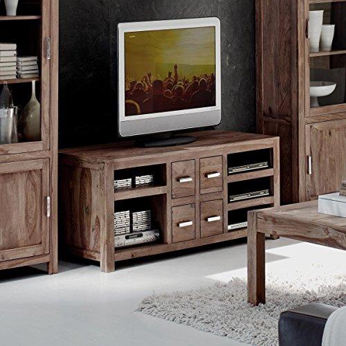 low board aus massivem sheesham holz mit 4 schubladen. Black Bedroom Furniture Sets. Home Design Ideas