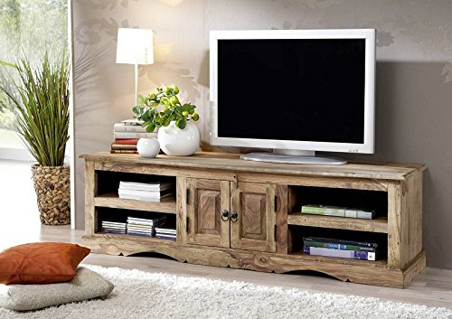 massiv holz kolonialart m bel sheesham ge lt tv board palisander grau massivm bel grau robin 48. Black Bedroom Furniture Sets. Home Design Ideas