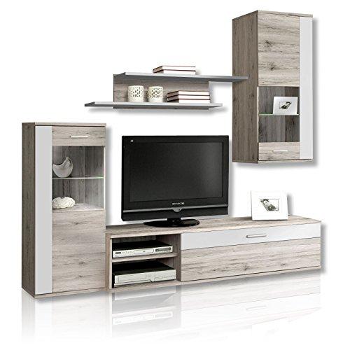 roller wohnwand hot shot sandeiche wei 0 m bel24 wohnw nde. Black Bedroom Furniture Sets. Home Design Ideas