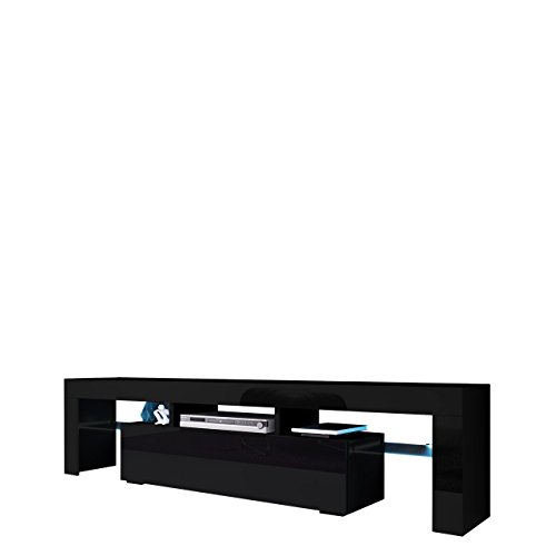 tv board lowboard toro tv lowboard mit grifflose ffnen unterschrank sideboard mediaboard. Black Bedroom Furniture Sets. Home Design Ideas
