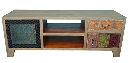 the wood times lowboard tv m bel massiv vintage look dhaka mangoholz bxhxt 135x50x40 cm g nstig. Black Bedroom Furniture Sets. Home Design Ideas