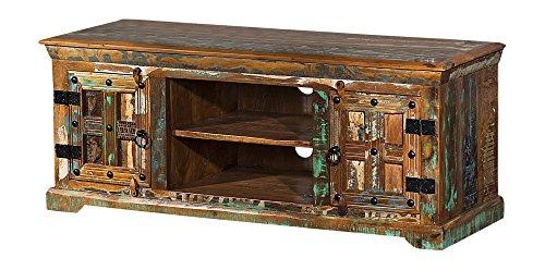 the wood times lowboard tv m bel massivholz vintage look delhi fsc recycled bxhxt 125x50x45 cm. Black Bedroom Furniture Sets. Home Design Ideas