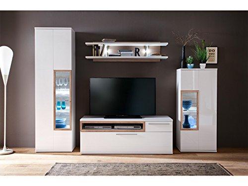 wohnwand mediawand anbauwand tv wand schrankwand. Black Bedroom Furniture Sets. Home Design Ideas