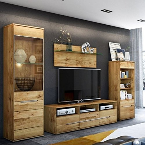 wohnwand wohnzimmer lessy kernbuche massiv gelt 0 m bel24. Black Bedroom Furniture Sets. Home Design Ideas