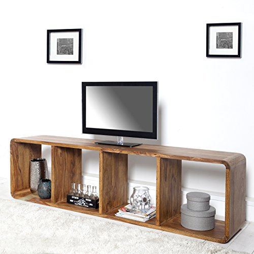 Cag exklusiver design tv tisch daipur aus sheesham for Tv tisch design