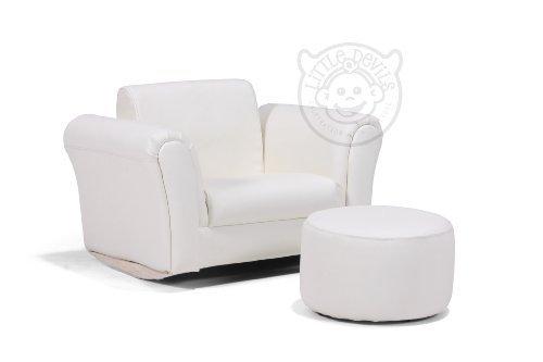 lazybones cremefarbener leder schaukelstuhl kinder sessel. Black Bedroom Furniture Sets. Home Design Ideas