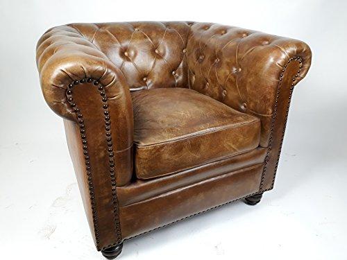 vintage sessel chesterfield leder 1 sitzer m bel24. Black Bedroom Furniture Sets. Home Design Ideas