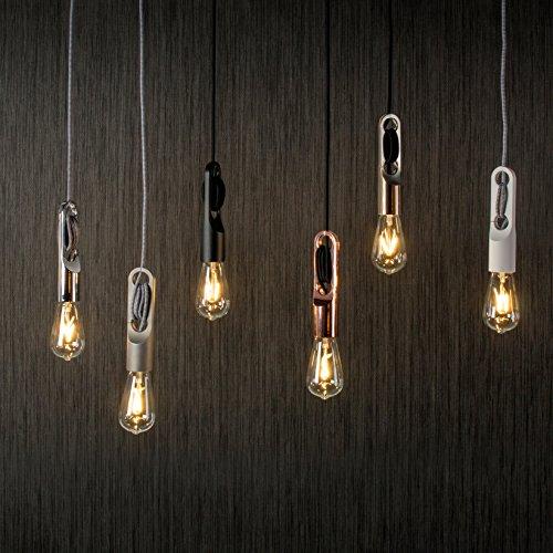 h ngeleuchte 4 5cm lampenfassung textilkabel h ngelampe pendelleuchte leuchte retro. Black Bedroom Furniture Sets. Home Design Ideas