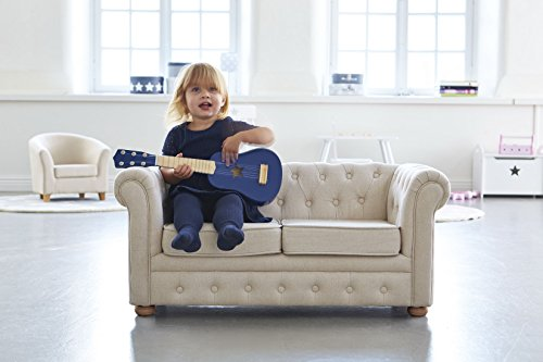 kids concept sofa couch chesterfield kinderzimmer leinen holzm bel 92x56x61cm beige g nstig. Black Bedroom Furniture Sets. Home Design Ideas