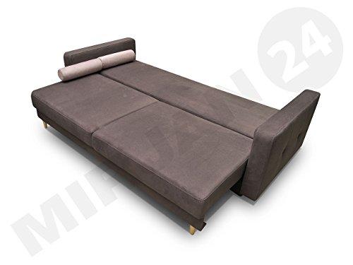 Modernes schlafsofa oliver couch mit bettkasten und for Bequemes bettsofa