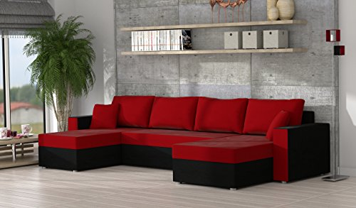 ecksofa sofa couchgarnitur couch rumba style wohnlandschaft mit schlaffunktion und bettkasten. Black Bedroom Furniture Sets. Home Design Ideas