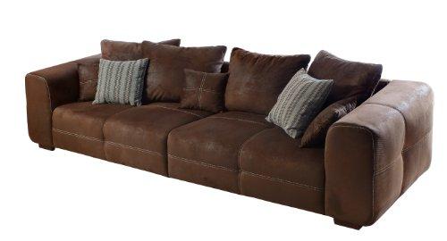 sofa mavericco braune polster couch in wildlederoptik. Black Bedroom Furniture Sets. Home Design Ideas