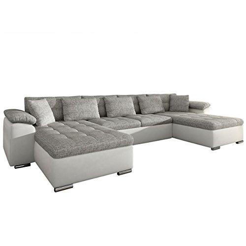 Ecksofa wicenza design big sofa eckcouch couch mit for Sofa u form mit bettfunktion