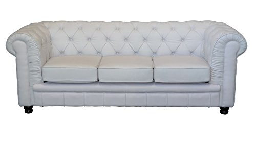 vintage sofa oxford chesterfield 3 sitzer weiss wohnw nde m bel24. Black Bedroom Furniture Sets. Home Design Ideas