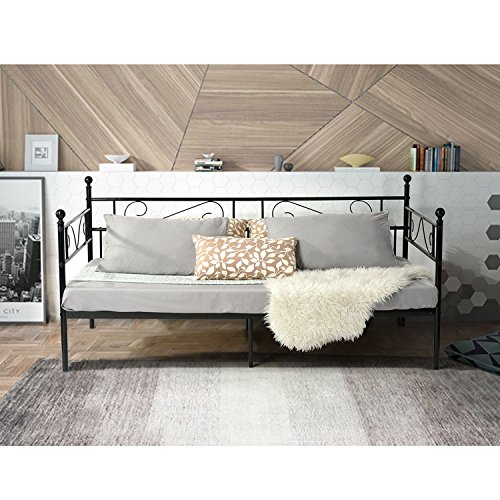 aingoo bettsofa schlafsofa mit lattenrost g stebett einzelbett single bett metallbett tagesbett. Black Bedroom Furniture Sets. Home Design Ideas
