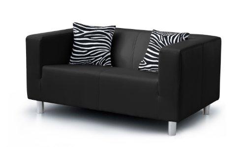 b famous 3 sitzer sofa cube 183 x 85 cm pu schwarz g nstig online kaufen wohnw nde. Black Bedroom Furniture Sets. Home Design Ideas