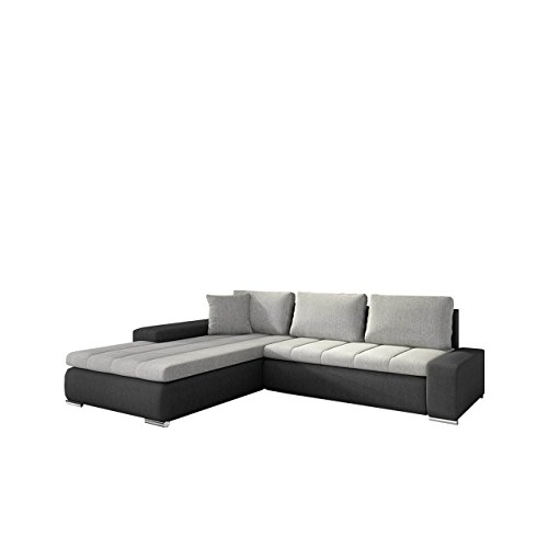 eckcouch ecksofa orkan elegante sofa mit schlaffunktion und bettfunktion bettkasten couch l. Black Bedroom Furniture Sets. Home Design Ideas