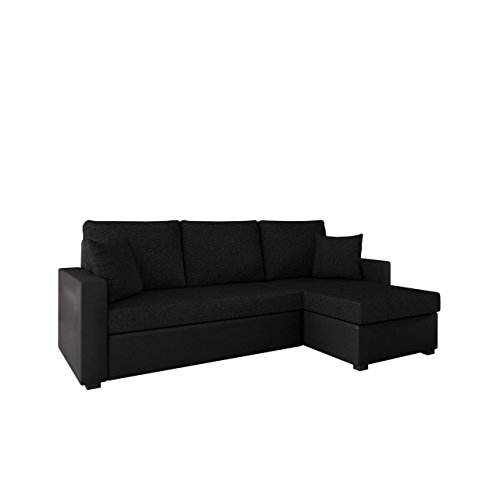 ecksofa mit schlaffunktion und bettkasten picanto lux ma e 224x144 cm schlaffl che 200x130. Black Bedroom Furniture Sets. Home Design Ideas