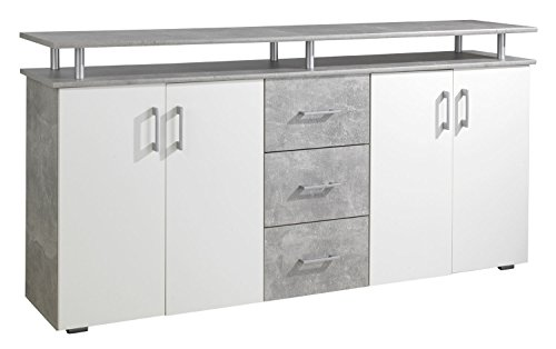 kommode sideboard anrichte luisa wei betonoptik 3. Black Bedroom Furniture Sets. Home Design Ideas