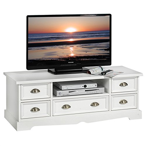 lowboard tequila tv m bel tv rack landhaus stil fernsehtisch kiefer tv bank wei g nstig online. Black Bedroom Furniture Sets. Home Design Ideas