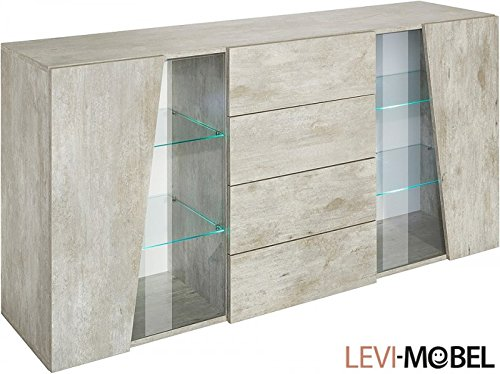sideboard wohnzimmer wohnwand schrank beton optik matt neu 794848 g nstig online kaufen. Black Bedroom Furniture Sets. Home Design Ideas