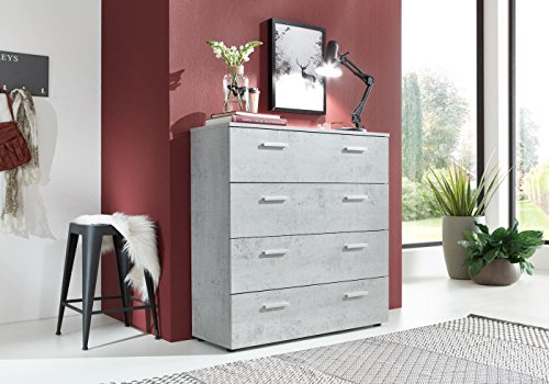 schubladen kommode sideboard marbella in beton betonoptik. Black Bedroom Furniture Sets. Home Design Ideas
