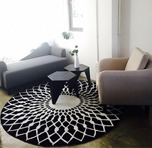 schwarz wei runde wohnzimmer couchtisch gro e teppich schlafzimmer studie bodenmatten g nstig. Black Bedroom Furniture Sets. Home Design Ideas