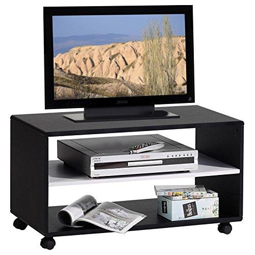 tv m bel tv rack lowboard fernsehtisch tv tisch tv element atlanta in schwarz wei mit. Black Bedroom Furniture Sets. Home Design Ideas