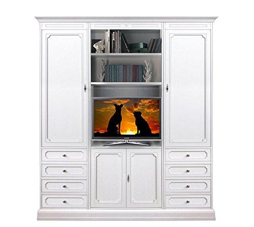 wohnwand 180 cm t ren und schubladen g nstig online kaufen wohnw nde. Black Bedroom Furniture Sets. Home Design Ideas