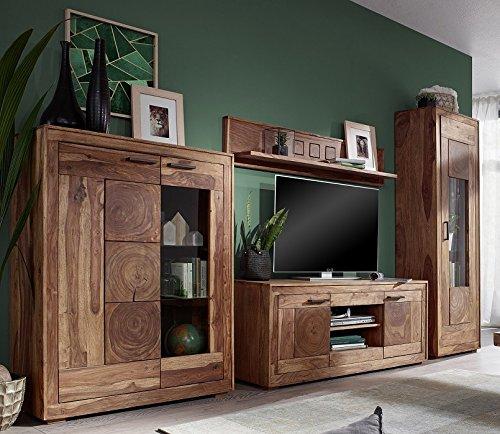 wohnwand 39 rio 39 sheesham massiv g nstig online kaufen wohnw nde. Black Bedroom Furniture Sets. Home Design Ideas