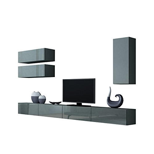 wohnwand vigo xiii anbauwand modernes wohnzimmer set. Black Bedroom Furniture Sets. Home Design Ideas