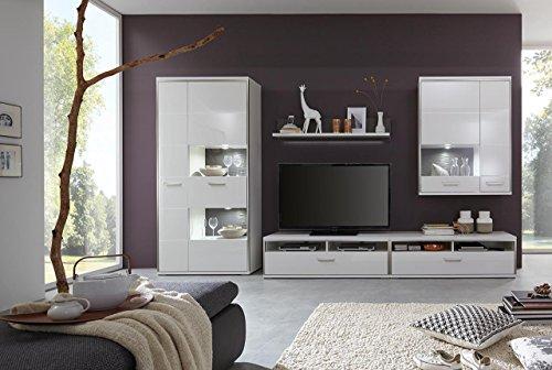 Wohnwand wohnzimmerschrank anbauwand schrankwand for Wohnzimmerschrank grau