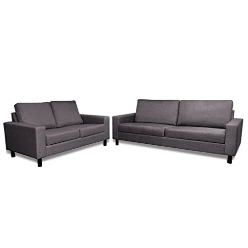 vidaxl sofa stoffsofa sitzer polstersofa loungesofa couch zweisitzer sitzm bel m bel g nstig. Black Bedroom Furniture Sets. Home Design Ideas