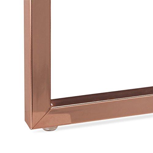 relaxdays beistelltisch mit tablett abnehmbar rund couchtisch chromgestell bugholz hbt 50. Black Bedroom Furniture Sets. Home Design Ideas