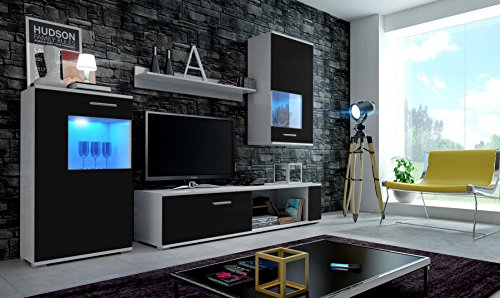 eve moderne wohnwand exklusive mediam bel tv schrank. Black Bedroom Furniture Sets. Home Design Ideas