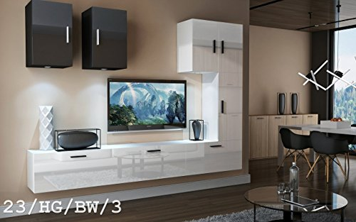wohnwand future 23 anbauwand moderne wohnwand exklusive. Black Bedroom Furniture Sets. Home Design Ideas