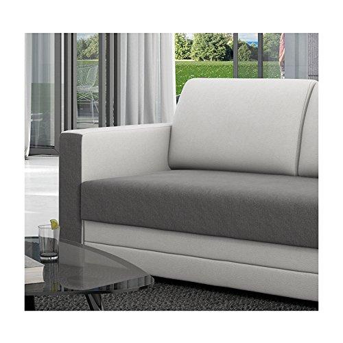 innocent schlafsofa 120 cm aus textil grau und kunstleder wei ausziehbar brandson 2 wohnw nde. Black Bedroom Furniture Sets. Home Design Ideas