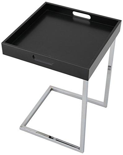 invicta interior ciano design beistelltisch tablett tisch schwarz chrom 40 x 40 cm m bel24. Black Bedroom Furniture Sets. Home Design Ideas