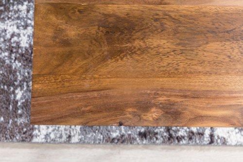 Design couchtisch akola sheesham massivholz 71 x 71 x 45 cm mit metallgestell wohnzimmertisch - Wohnzimmertisch quadratisch ...