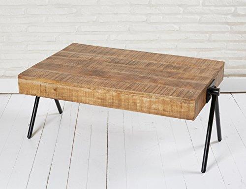 beistelltisch couchtisch wohnzimmertisch stubentisch rund 90 x 60 cm holz metall im retro bzw. Black Bedroom Furniture Sets. Home Design Ideas