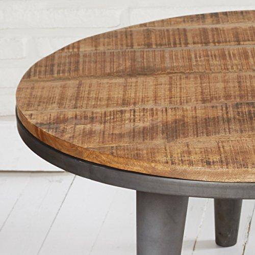beistelltisch couchtisch wohnzimmertisch stubentisch rund 79 cm holz metall im retro bzw. Black Bedroom Furniture Sets. Home Design Ideas