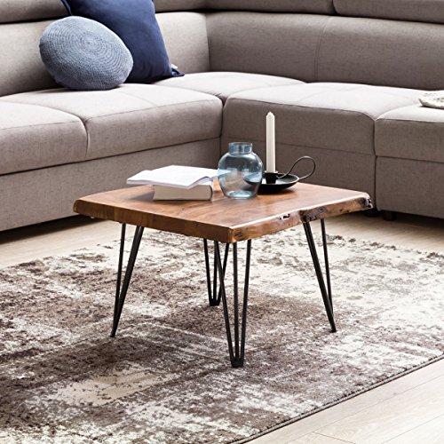 wohnling design couchtisch mahilo massivholz tisch baumkante 56 x 38 x 51 cm sheesham. Black Bedroom Furniture Sets. Home Design Ideas