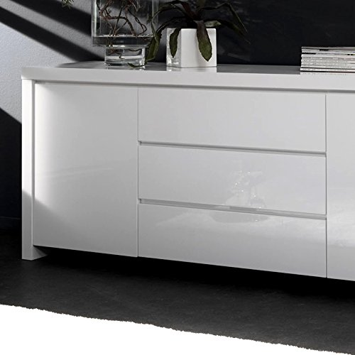 salesfever sideboard mit 2 t ren und 3 schubladen in wei hochglanz dorka m bel24. Black Bedroom Furniture Sets. Home Design Ideas