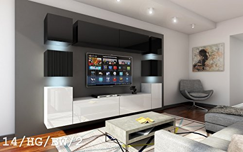Wohnwand future 14 moderne wohnwand exklusive mediam bel for Exklusive wohnwand