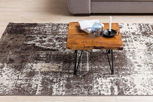 FineBuy Design Couchtisch MAILO Massivholz Tisch Baumkante 56 x 38 x 51 cm   Sheesham Holztisch mit Metallbeinen   Wohnzimmertisch im rustikalen Landhausstil