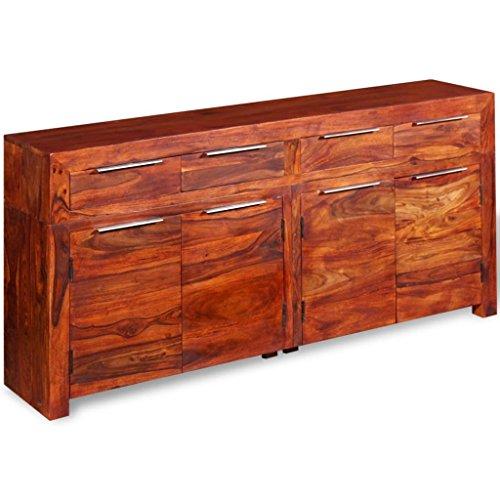 festnight sideboard kommode massiv sheesham holz 160 35 75 cm wohnw nde m bel24. Black Bedroom Furniture Sets. Home Design Ideas