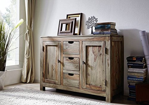 palisander massiv holz sideboard sheesham m bel nature grey 83 g nstig online kaufen m bel24. Black Bedroom Furniture Sets. Home Design Ideas