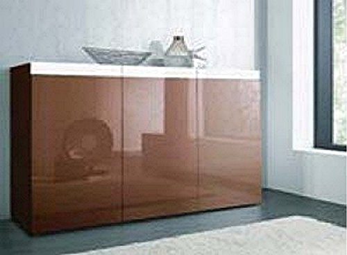 sideboard wohnzimmer schrank wei cappuccino hochglanz neu 388277 g nstig online kaufen wohnw nde. Black Bedroom Furniture Sets. Home Design Ideas