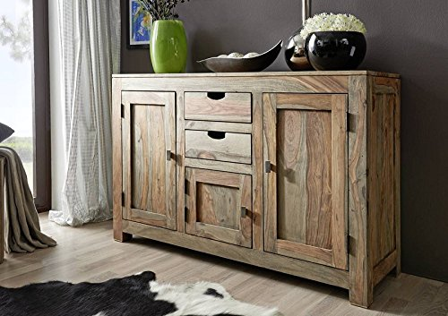 sheesham massivm bel sideboard palisander holz massiv nature grey 86 g nstig online kaufen. Black Bedroom Furniture Sets. Home Design Ideas