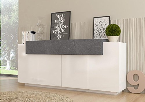 sideboard kommode asia italian design hochglanz wei dunkel grau g nstig online kaufen wohnw nde. Black Bedroom Furniture Sets. Home Design Ideas